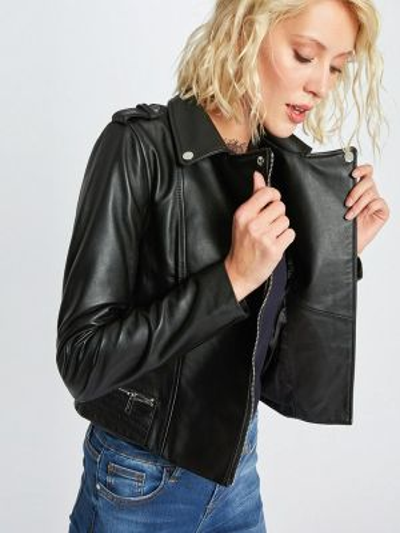 Кожаная куртка черная весенняя Morgan