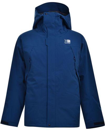 Niebieska kurtka sportowa z kapturem bawełniana Karrimor