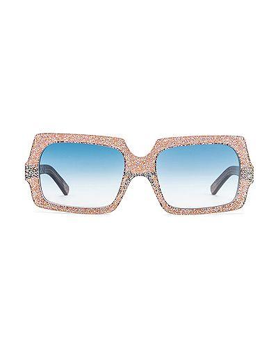 Niebieskie okulary skorzane Acne Studios