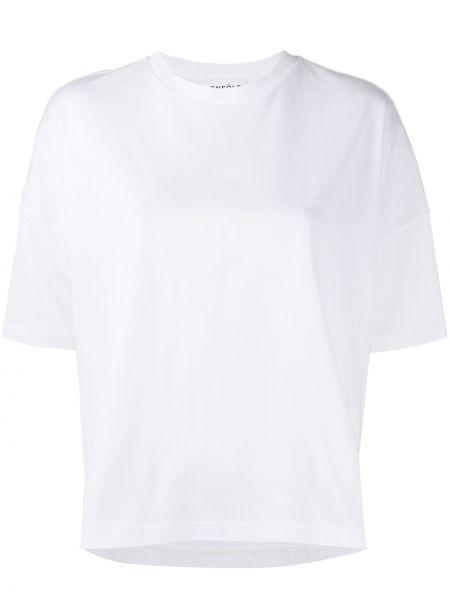 Koszula z krótkim rękawem biała asymetryczny Enfold