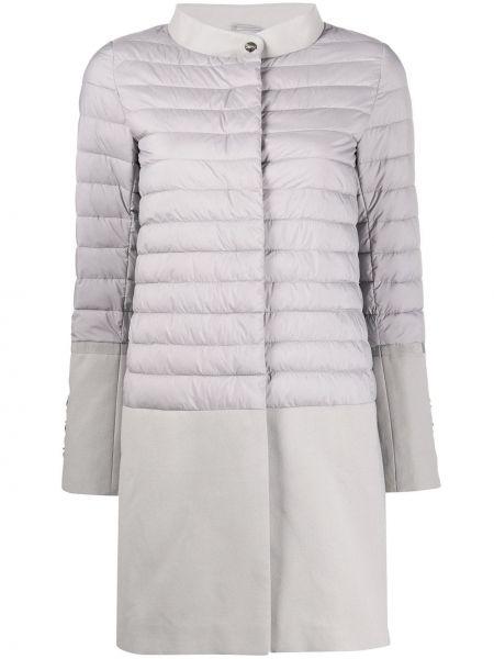 Pikowana płaszcz długi z kieszeniami Herno