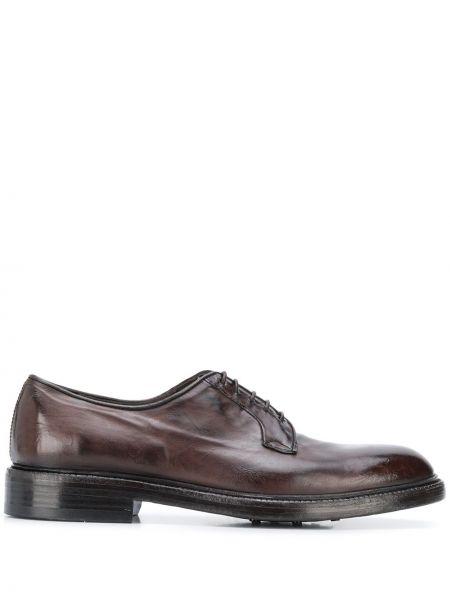 Туфли на шнуровке на каблуке Green George