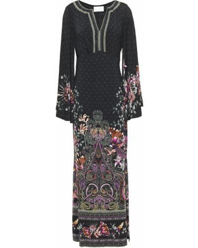 Трикотажное платье макси - черное Camilla