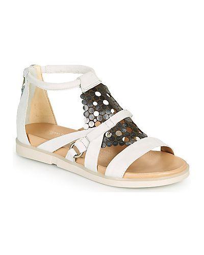 Białe sandały Mjus