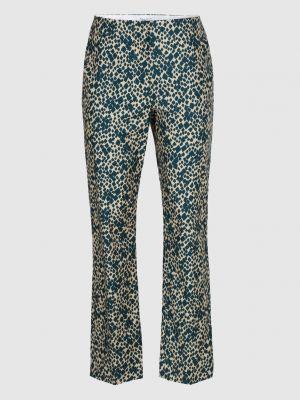 Зеленые прямые брюки Sonia Rykiel