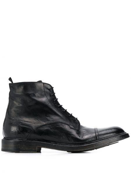 Черные кожаные ботинки Silvano Sassetti