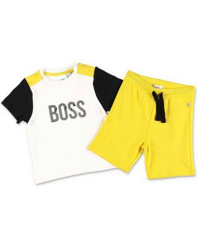 Biały kombinezon bawełniany Hugo Boss