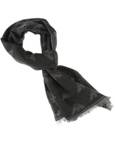 Czarny szalik zimowy Emporio Armani