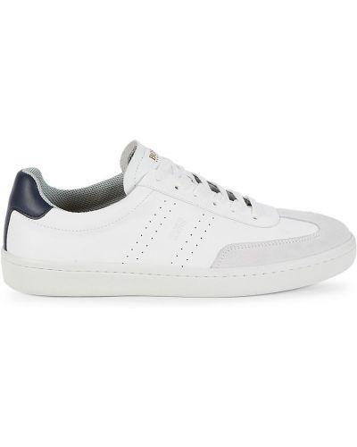 Теннисные кожаные белые кроссовки Boss Hugo Boss