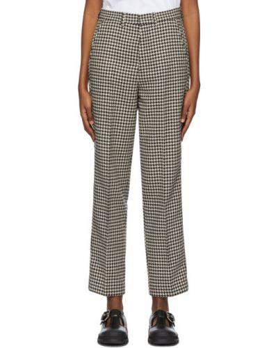 Брючные прямые белые прямые брюки с поясом Ami Alexandre Mattiussi