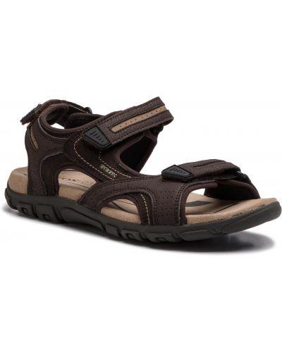 Brązowe sandały skorzane Geox