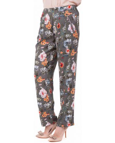 Летние брюки прямые в цветочный принт Pezzo