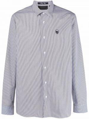 Biała biała koszula zapinane na guziki Philipp Plein