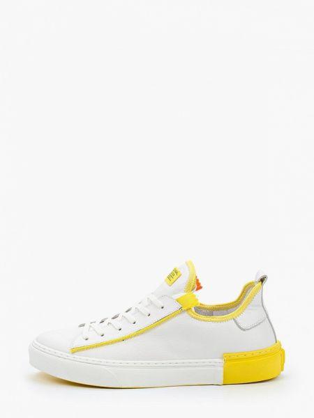 Белые кожаные кроссовки Dino Ricci Trend