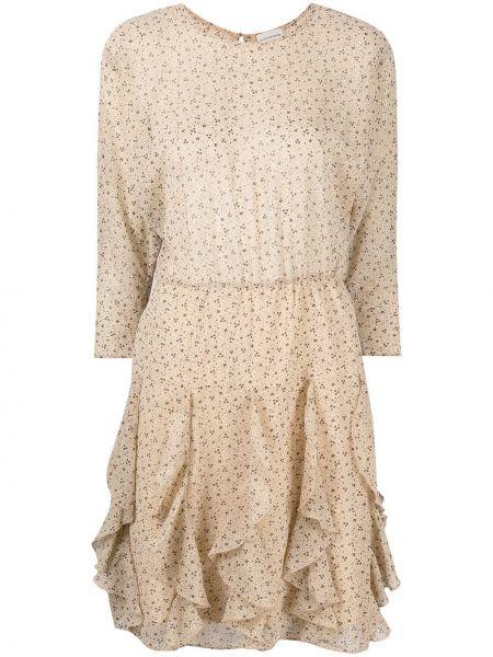 С рукавами платье макси в цветочный принт с вырезом By Malene Birger