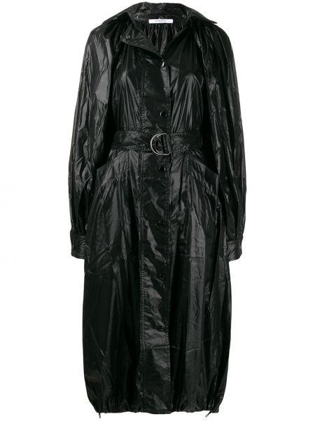 Черное пальто классическое оверсайз с капюшоном Givenchy