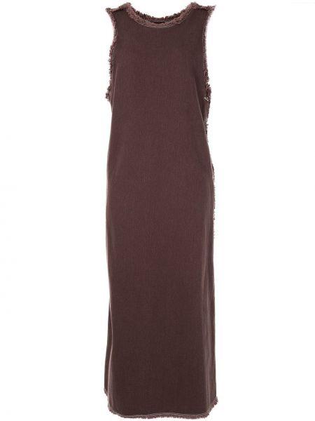 Платье с бахромой с V-образным вырезом на молнии без рукавов G.v.g.v.