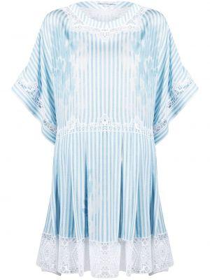 Кружевное белое платье мини трапеция Ermanno Scervino