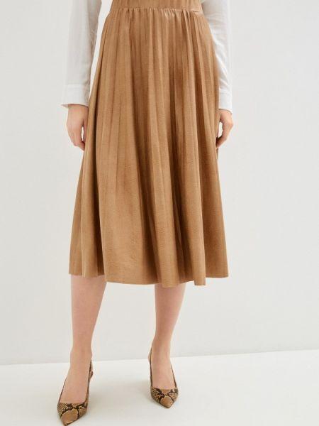 Плиссированная юбка коричневый весенняя Concept Club