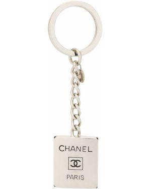 Brelok srebro z logo Chanel Pre-owned
