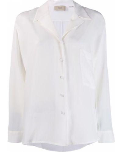 Блузка с длинным рукавом с лацканами классическая Maison Flaneur