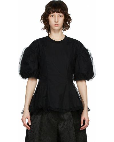 Черная футболка с короткими рукавами Simone Rocha