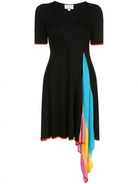 Расклешенное приталенное платье мини с V-образным вырезом с драпировкой I-am-chen