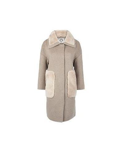 Коричневое шерстяное пальто Diego M
