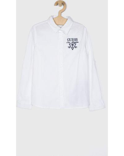 Рубашка с узором белая Guess Jeans