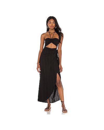 Черное шелковое платье Lspace