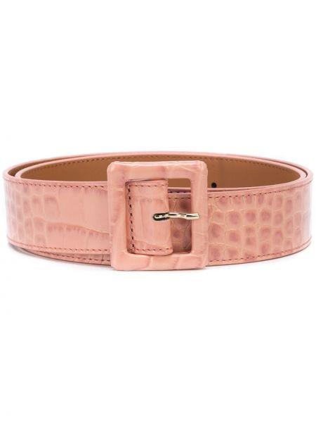 Кожаный розовый ремень с пряжкой с поясом Veronica Beard