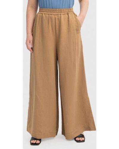 Широкие брюки - бежевые W&b