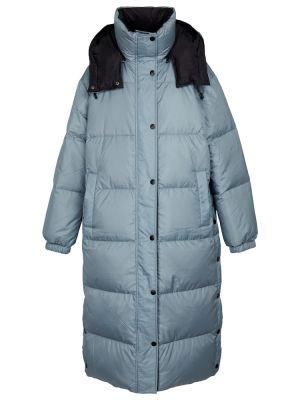 Синее длинное пальто Yves Salomon
