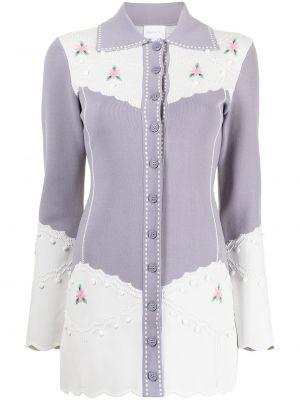 Фиолетовое платье с вышивкой Alice Mccall