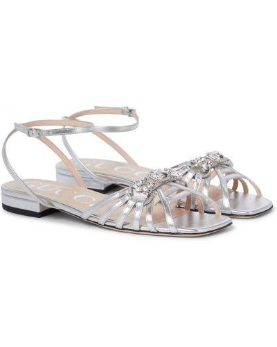 Sandały skorzane Gucci