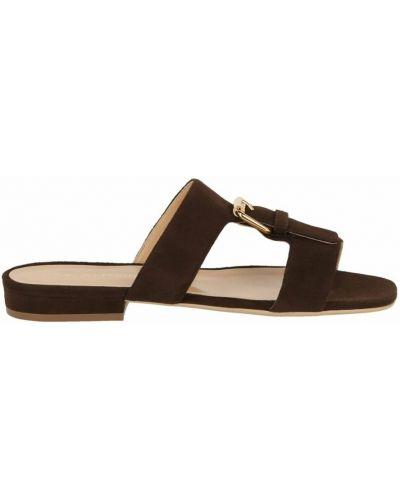 Brązowe sandały z klamrą Sergio Rossi