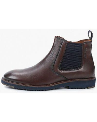 Коричневые кожаные ботинки челси Salamander