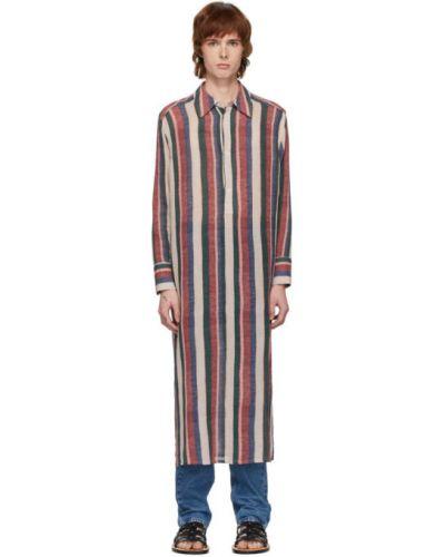 Niebieski z rękawami bawełna bawełna tunika Loewe