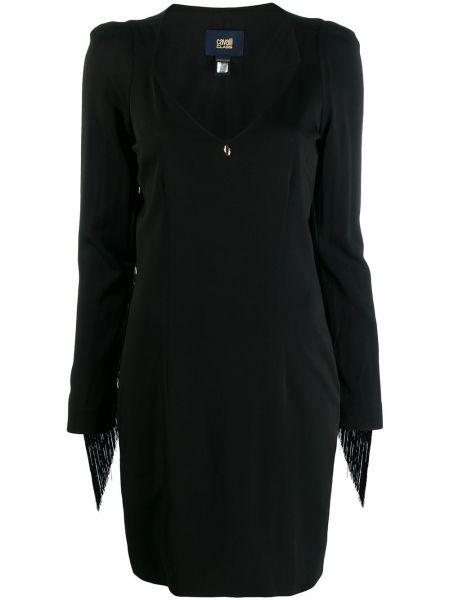 Приталенное платье мини с бахромой на молнии Cavalli Class