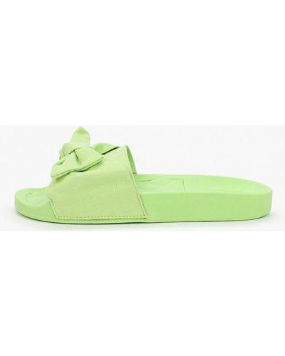 Текстильные зеленые сабо Moleca