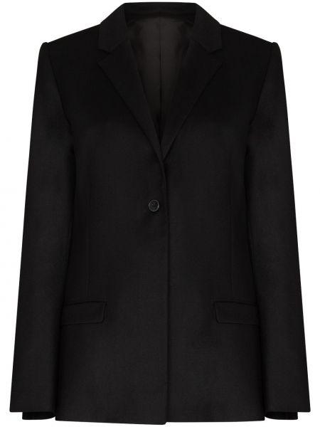 Однобортный черный пиджак Toteme
