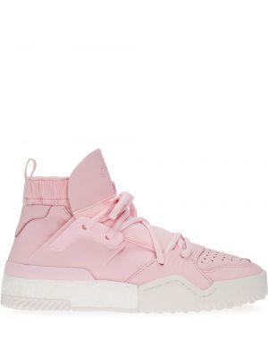 Кожаные розовые кроссовки Adidas Originals By Alexander Wang