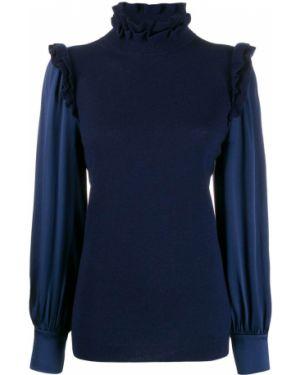 Синий свитер узкого кроя Teija