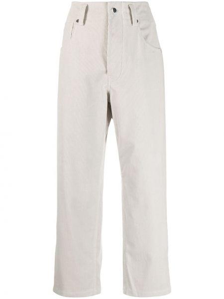 Серые укороченные брюки свободного кроя на молнии вельветовые Sofie D'hoore