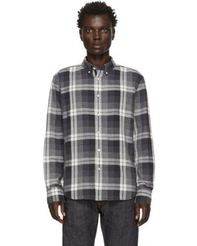 Czarna koszula bawełniana z haftem Rag & Bone
