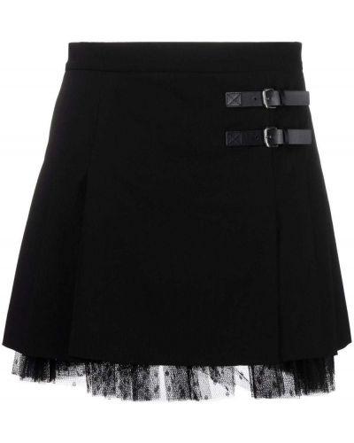Плиссированная юбка - черная Red Valentino