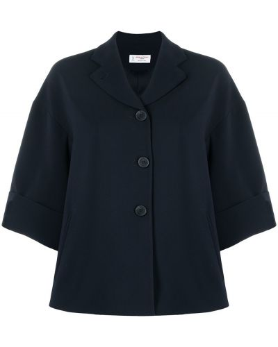 Синий классический пиджак с воротником на пуговицах Alberto Biani