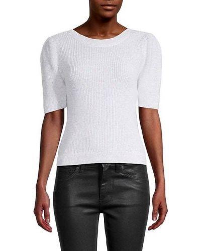 Хлопковый белый свитер с декоративной отделкой 525 America