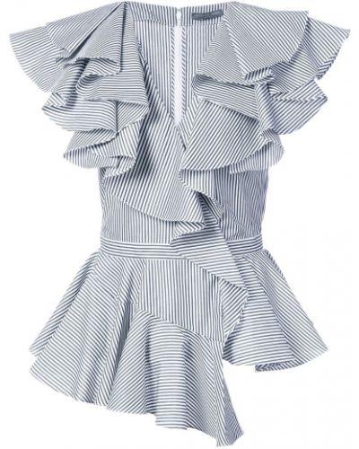 Блузка с рюшами асимметричная Alexander Mcqueen