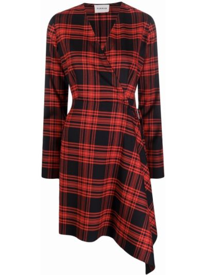 Красное шерстяное платье макси P.a.r.o.s.h.